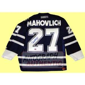 Autographed Frank Mahovlich Toronto Maple Leafs Jersey