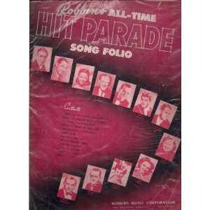 : Robbins All time Hit Parade Song Folio: Robbins Music Corp.: Books