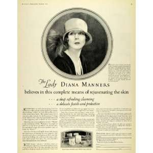 Skin Cream Diana Manners Cosmetics   Original Print Ad Home & Kitchen