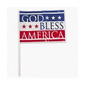 GOD BLESS AMERICA MINI FLAG (6 DOZEN)   BULK Toys & Games