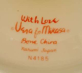 VERA for Mikasa WITH LOVE bone china Footed Cake Plate Stand Tidbit