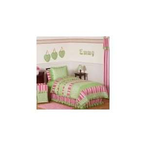 Olivia 4 Piece Twin Comforter Set   Girls Bedding: Home