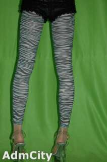 zebra print leggings footless pantyhose capri pants one size