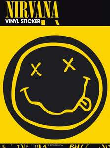 NIRVANA Smiley Vinyl Sticker Decal   NIRVANA Stickers