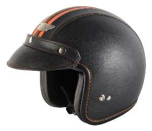 Nitro X580 LE Open Face Motorcycle Helmet Medium Black Orange