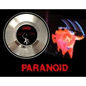 Black Sabbath Ozzy Paranoid Framed Silver Record A3