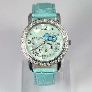 Crystal Hellokitty Girl Kid Quartz Wrist Watch Party Gift