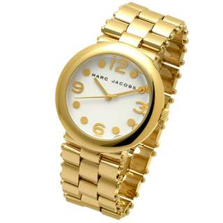 MARC JACOBS GOLD TONE STAINLESS STEEL WATCH MBM3014 NEW