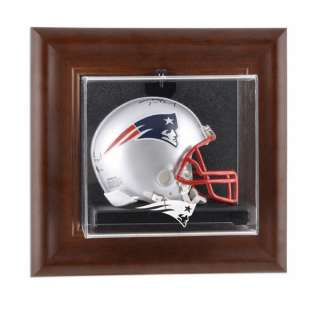 New England Patriots Wall Mounted Mini Helmet Case