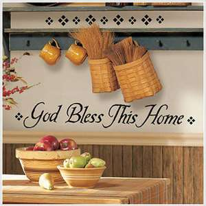 God Bless This Home Peel & Stick Wall Stickers Decals