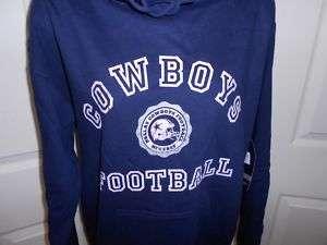 NEW Dallas COWBOYS Womens Large L Navy Blue Hoodie 3NO