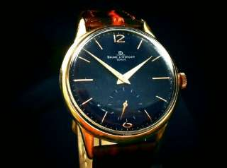 CLASSIC BAUME & MERCIER BLUE DIAL GOLD – PLATED NO RES