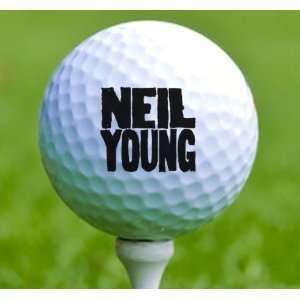3 x Rock n Roll Golf Balls Neil Young Musical Instruments