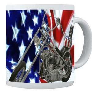 Rikki Knight American Flag Harley Davidson Photo Quality