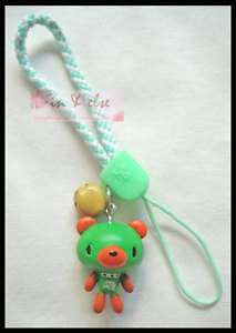 Green Bear Doll Mobile Cell Phone Charm Strap Lanyard