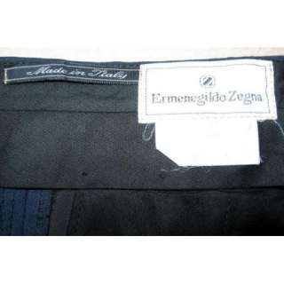 Ermenegildo Zegna $695 Mens W 33 L 31 Pants Blue Italian Dress Modern