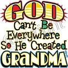 God Created Grandma Tee Sweet Cute Infant Baby Toddler Youth Spoiled