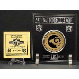 Official 2007 NFL Team Game Coin   St. Louis Rams  Sports