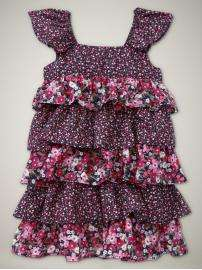 NWT Baby GAP Gypsy Mixed Floral Ruffle Dress NEW