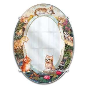 Jurgen Scholz Purr fect Reflections Kitten Mirror Wall