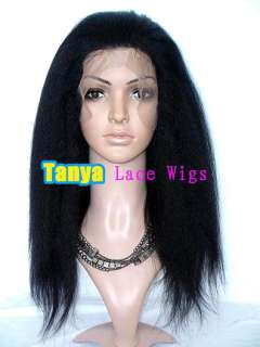 20 30 Kinky Straight Human Hair Remi Indian FULL LACE / FRONT LACE
