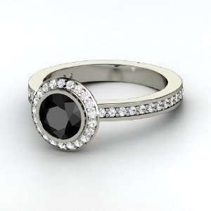 Roxanne Ring, Round Black Diamond Sterling Silver Ring
