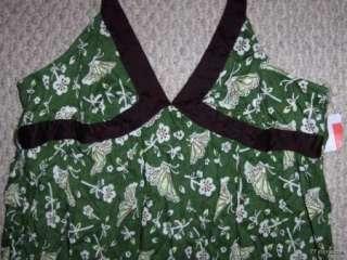 NWT MOSSIMO GREEN FLORAL HALTER SUNDRESS MAXI LONG DRESS WOMENS XL XXL
