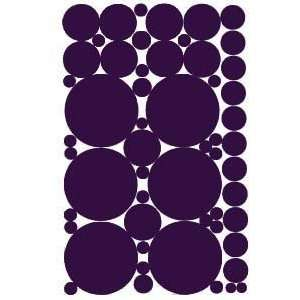 53 Purple Vinyl Polka Dots Wall Decor Decals Stickers