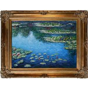 Art Monet Water Lilies Painting with Renaissance