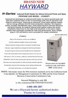 Hayward 100,000 BTU Propane Gas Swimming Pool Heater