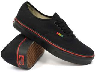 NEW VANS AUTHENTIC CLASSIC HEMP RASTA BLACK/BLACK SNEAKERS MENS SHOES
