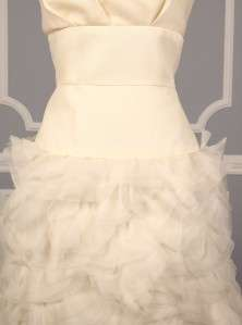 AUTHENTIC Monique Lhuillier Collette Ivory Silk Couture Bridal Gown