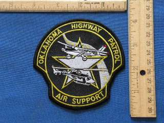 Oklahoma Highway Patrol Air Support Police Patch