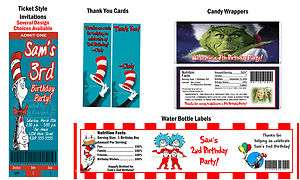 in the Hat Birthday Party Ticket Invitations Supplies Favors