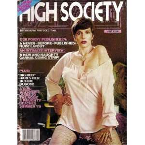High Society Magazine July 1979: High Society: Books