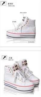 Womens Hot Punk Cool high heel Platform Sneakers shoes