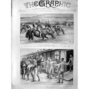 1899 Mooi River Boers Horses Red Cross Ambulance Train