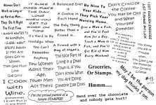 Unmounted Rubber Stamps Sheets Humorous Sayings Quotes