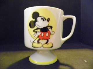 Vintage Disney Mickey Mouse Pedestal Mug Cup Handle