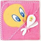HOODED TOWEL W/ BRUSH & COMB, TWEETY, TAZ, BUGS BUNNY, BABY SHOWER