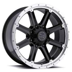 20x9 Black Rhino Moab (Gloss Black w/ Machined Lip) Wheels