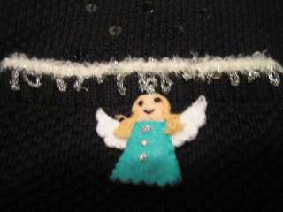 STORYBOOK KNIT  black Christmas knit sweater 2X Plus