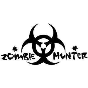 ZOMBIE HUNTER   8 BLACK   Vinyl Decal Window Sticker