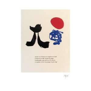 Joan Miro   Illustrated Poems parler Seul Lithograph