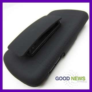 for Verizon Samsung Stratosphere i405   Black Hard Case+Belt Clip