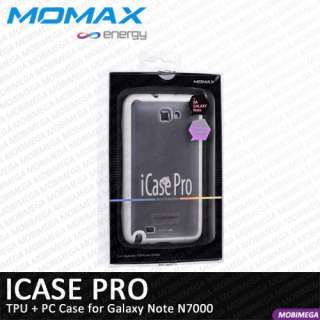 Momax iCase Pro Soft Case Cover Samsung Galaxy Note N7000 w Screen