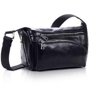 Korean Styled Oil Wax Leather Pocket Bag   Small