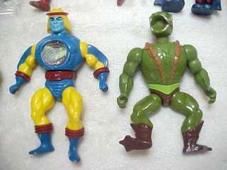Vintage 8 Figure MOTU He Man Masters of the Universe lot w/Accessories