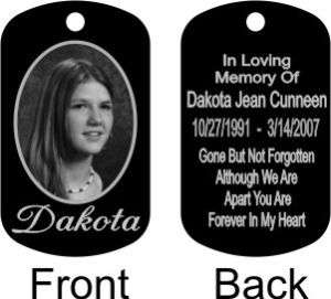 In Loving Memory Photo Memorial DogTag/Keychain