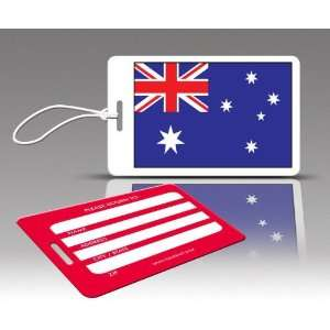 TagCrazy Luggage Tags  Australia Flag  Set of Three